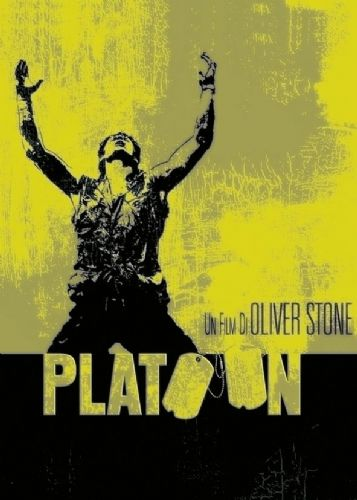 1980's Movie - PLATOON - METALLIC YELLOW canvas print - self adhesive poster - photo print